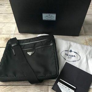 Prada Nylon Bandoleer Bag with Authenticity Card